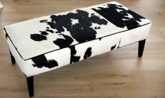 Cow Hide Bench