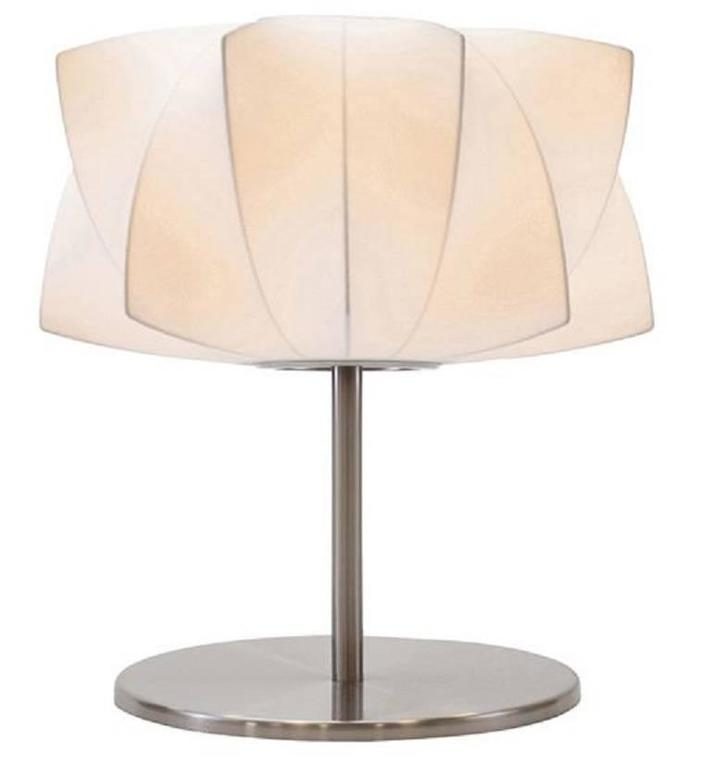 stainless steel table lamp for sale at 1stdibs. Black Bedroom Furniture Sets. Home Design Ideas