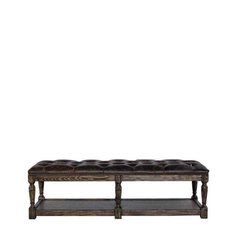 Rectangular Leather Tufted Bench For Sale At 1stdibs