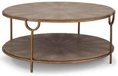 Ivory / Grey Shagreen Cocktail Table