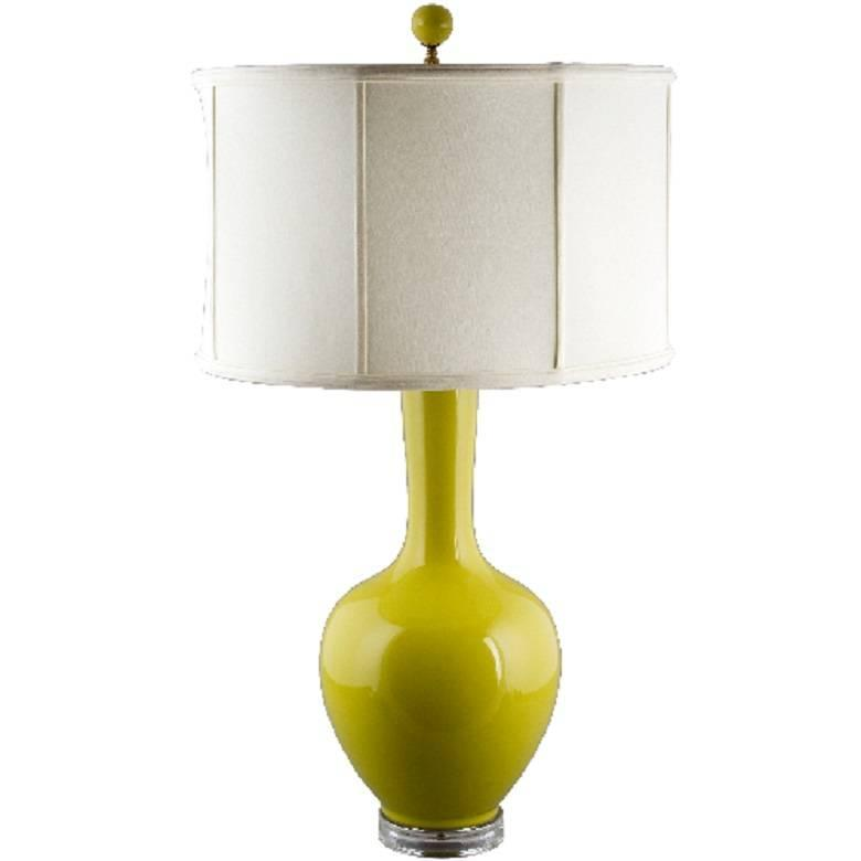 Yellow ceramic table lamp for sale at 1stdibs for Ollie table lamp yellow