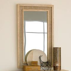 Driftwood Lattice Mirror