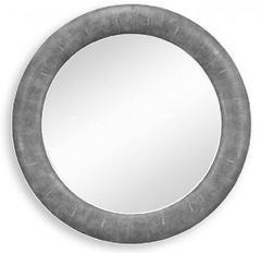 Round Faux Shagreen Mirror