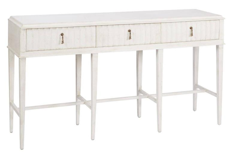 3 Drawer Painted Console Table For Sale At 1stdibs