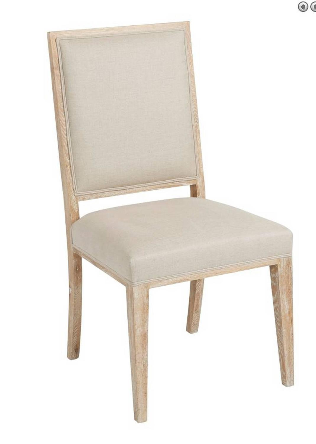 Upholstered white wash dining chair for sale at stdibs