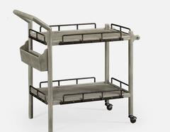 Grey Oak Bar Cart