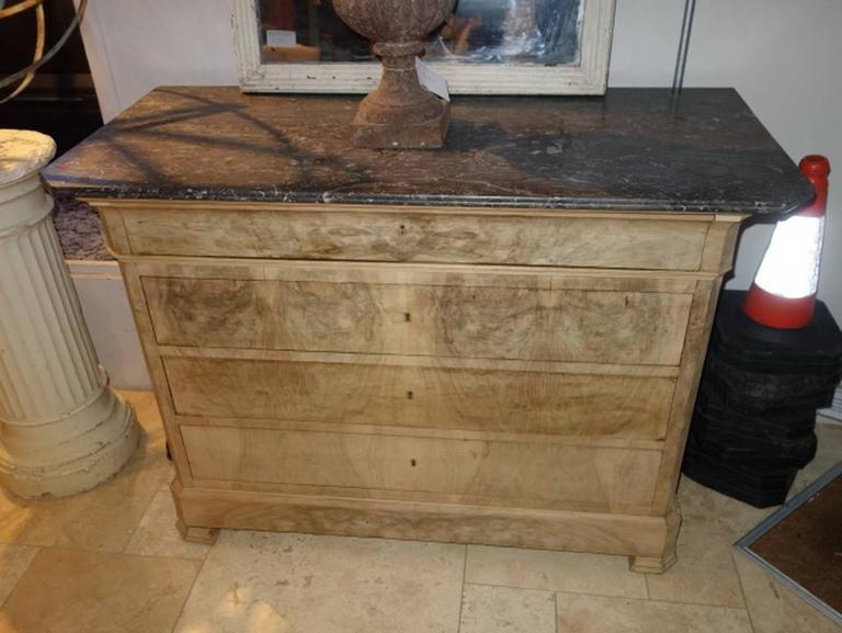 European Louis Phillipe Dresser In Bleached Walnut For
