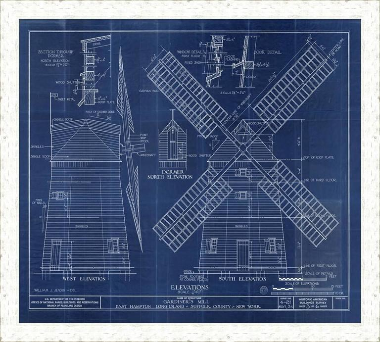 Large windmill blueprint for sale at 1stdibs large windmill blueprint for sale malvernweather Gallery