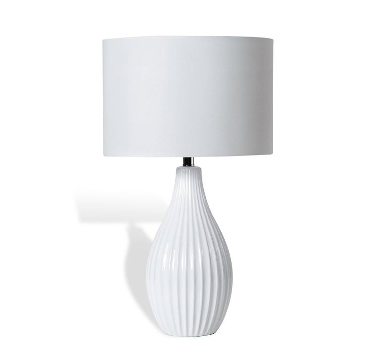 white ceramic table lamp for sale at 1stdibs. Black Bedroom Furniture Sets. Home Design Ideas