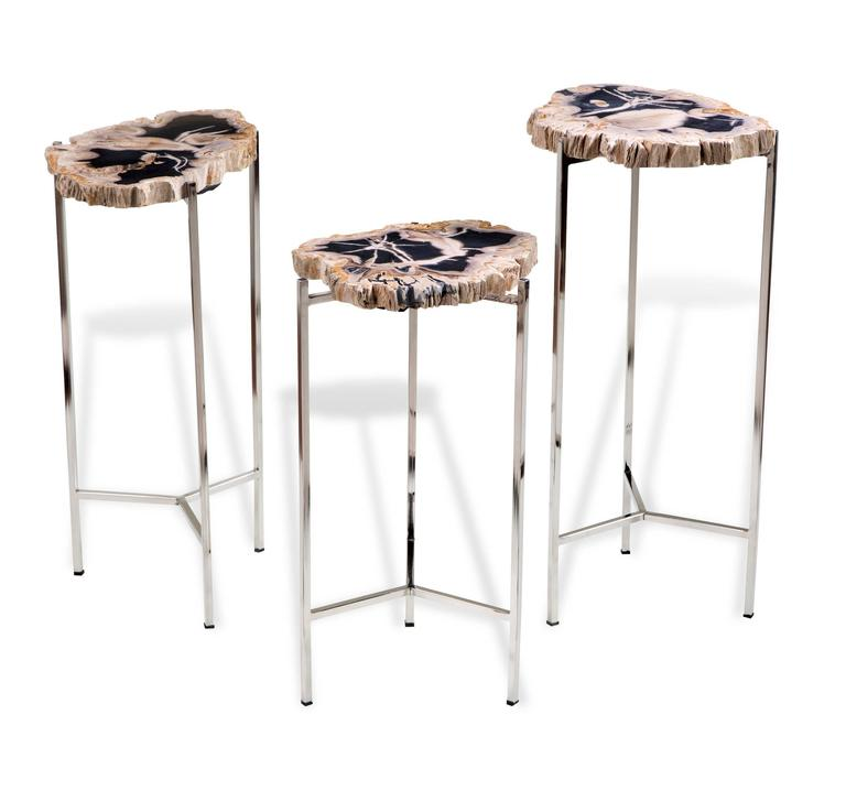 Petrified wood drink tables for sale at 1stdibs for Petrified wood furniture for sale