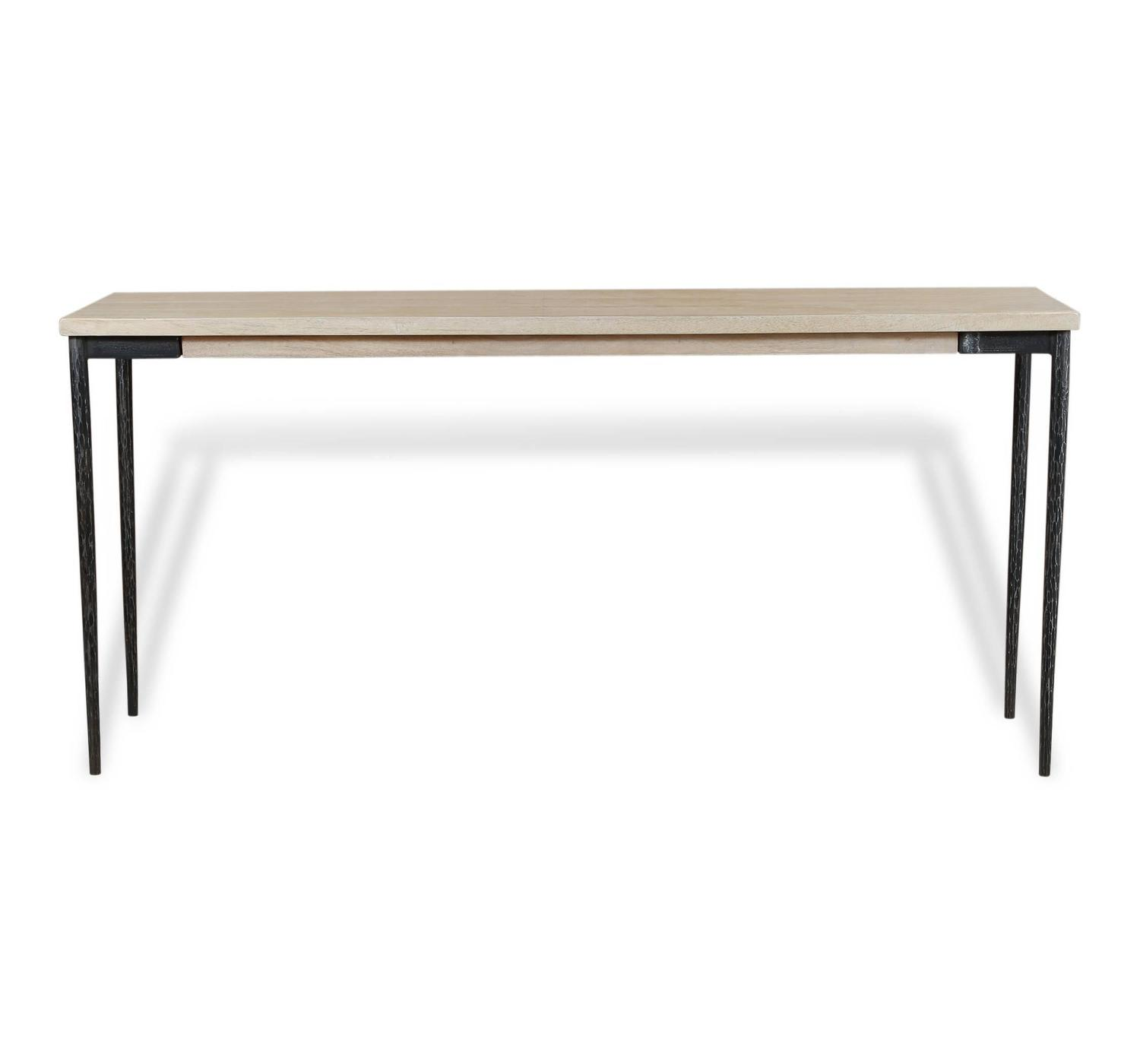 Wood and metal console table for sale at 1stdibs for Wood and metal console table