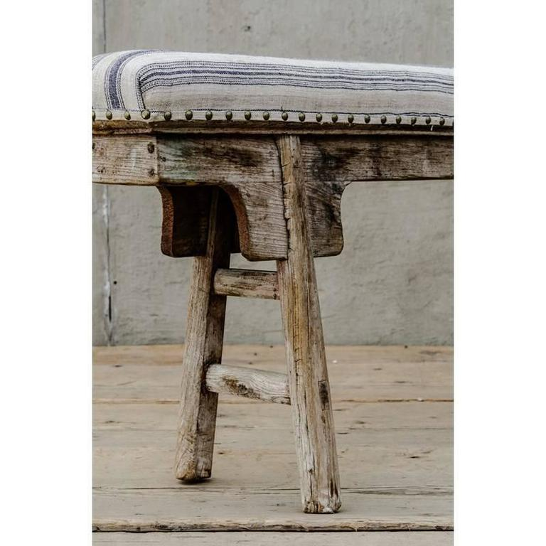 Chinese Style Upholstered Narrow Bench At 1stdibs