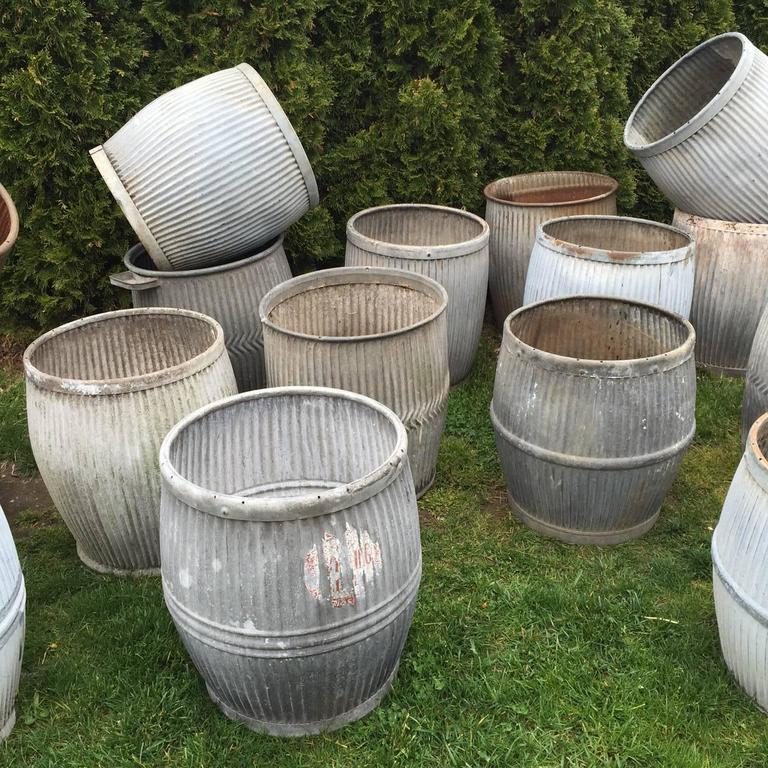 Ribbed Zinc Wash Tubs For Sale At 1stdibs