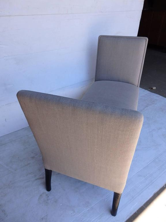 Pair of Upholstered Seats with High Sides 3