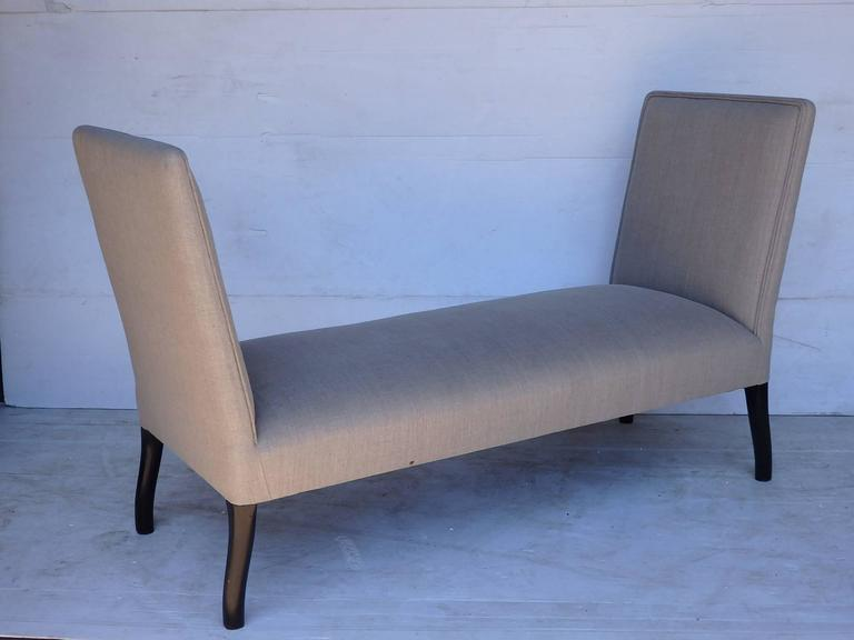 Pair of Upholstered Seats with High Sides 2