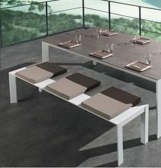 Outdoor Ceramic and Aluminium Dining Table
