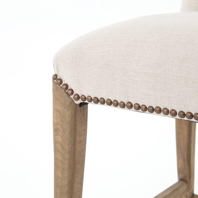 Linen and Oak Counter Stool 2