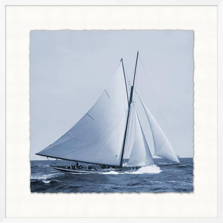 Glicee prints of C 1900 Americas Cup Yachts In Good Condition For Sale In Bridgehampton, NY