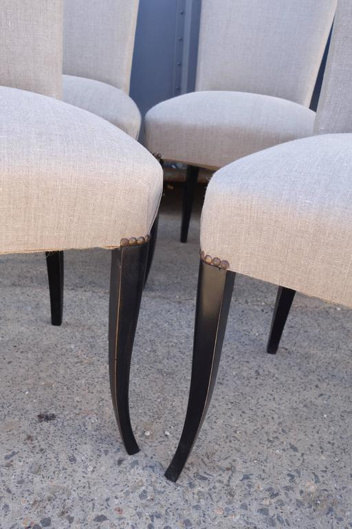 European Set of Eight French Dining Chairs For Sale