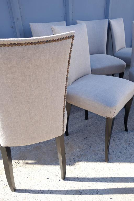 Set of Eight French Dining Chairs In Good Condition For Sale In Bridgehampton, NY