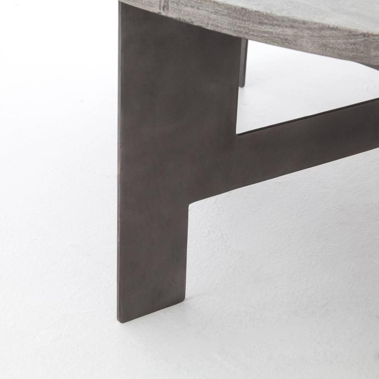 Iron and Wood Coffee Table 2