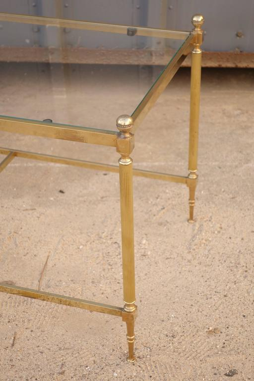 French 1930s brass and glass cocktail table.