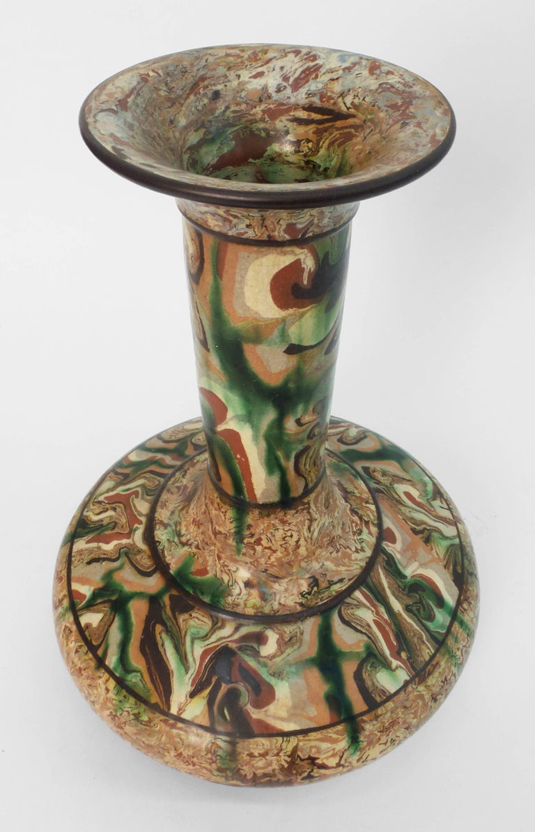Rare Mixed Earth Vase by Pichon 5