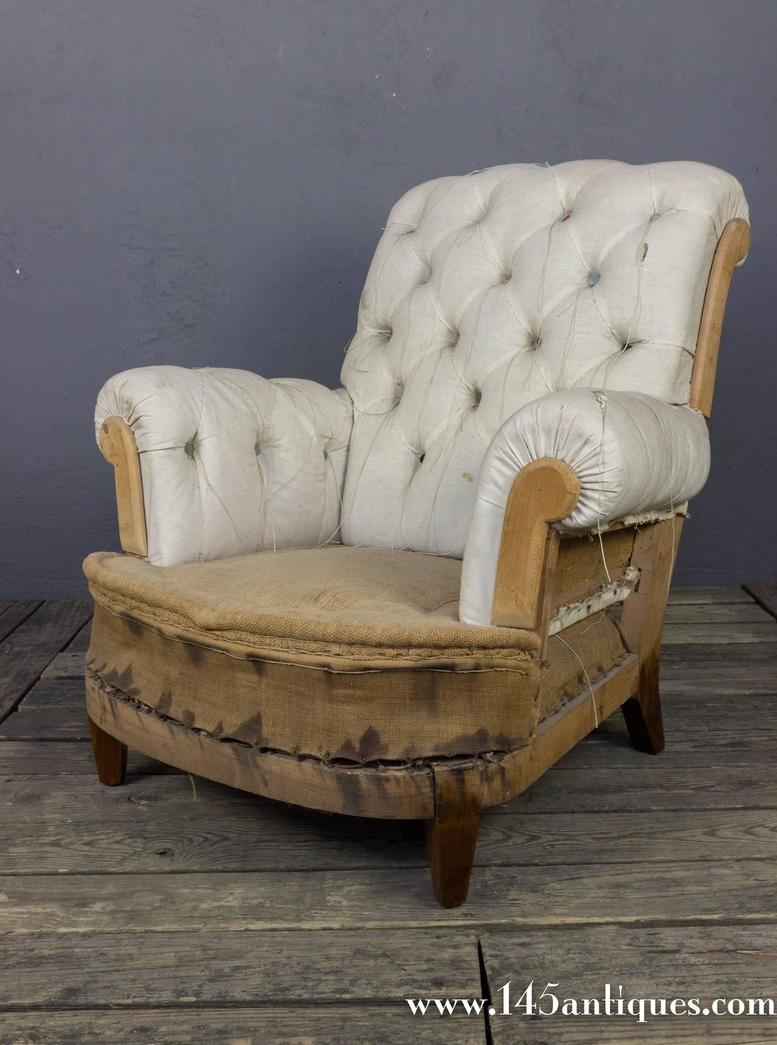 Large tufted armchair and ottoman for sale at 1stdibs for Oversized armchairs for sale