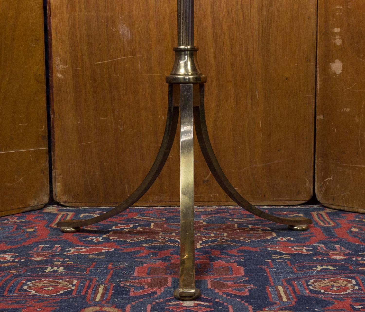 1940s French Brass Floor Lamp At 1stdibs