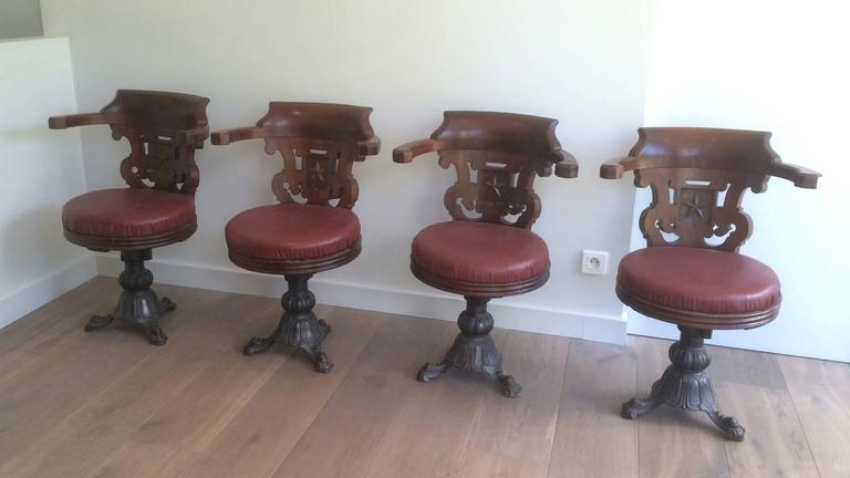Rare Set Of Four Ship Armchairs From Starline Company Circa 48 Delectable Cost To Ship Furniture Set