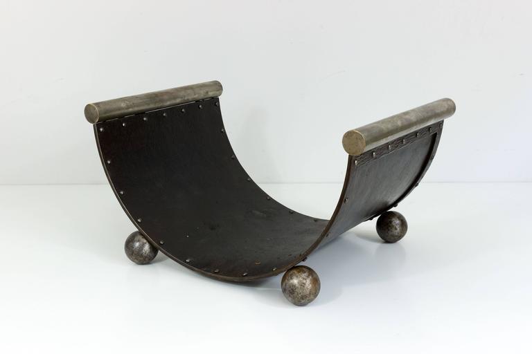Art Deco Log Basket : Art deco style log rack for fireplace at stdibs