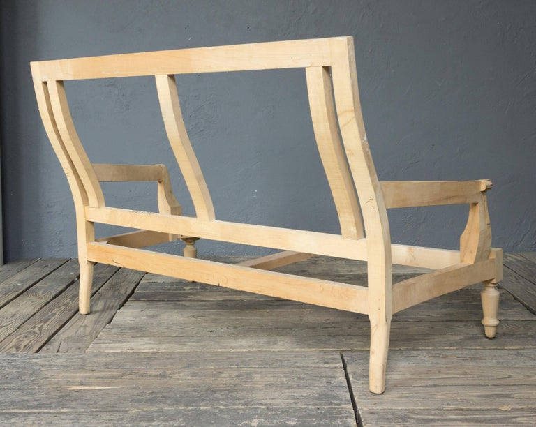 Unfinished Frame for a Napoleon III Style Settee In Excellent Condition For Sale In Long Island City, NY