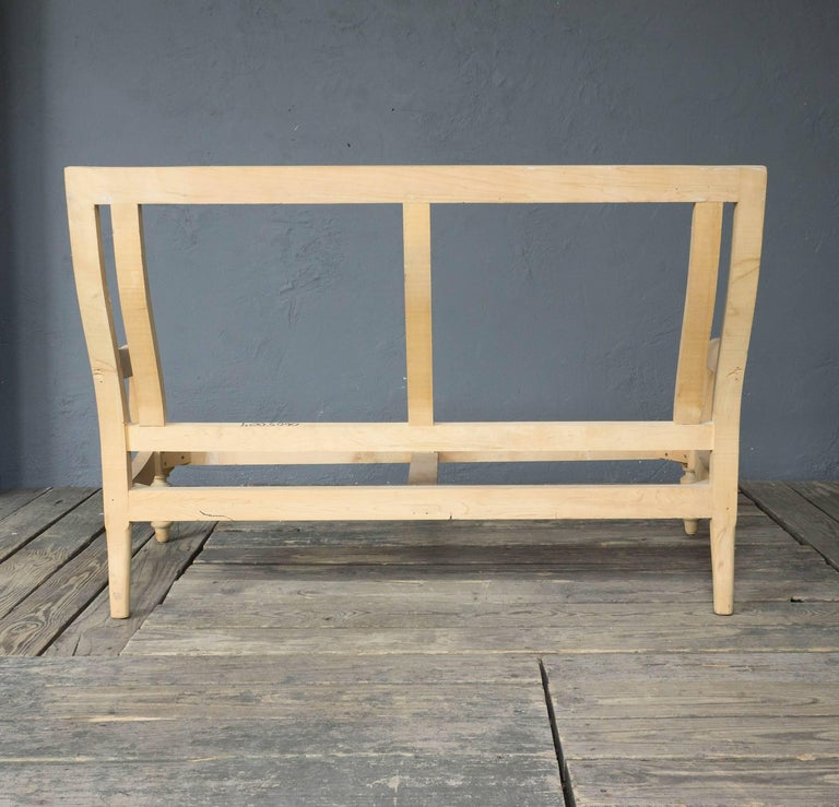Contemporary Unfinished Frame for a Napoleon III Style Settee For Sale