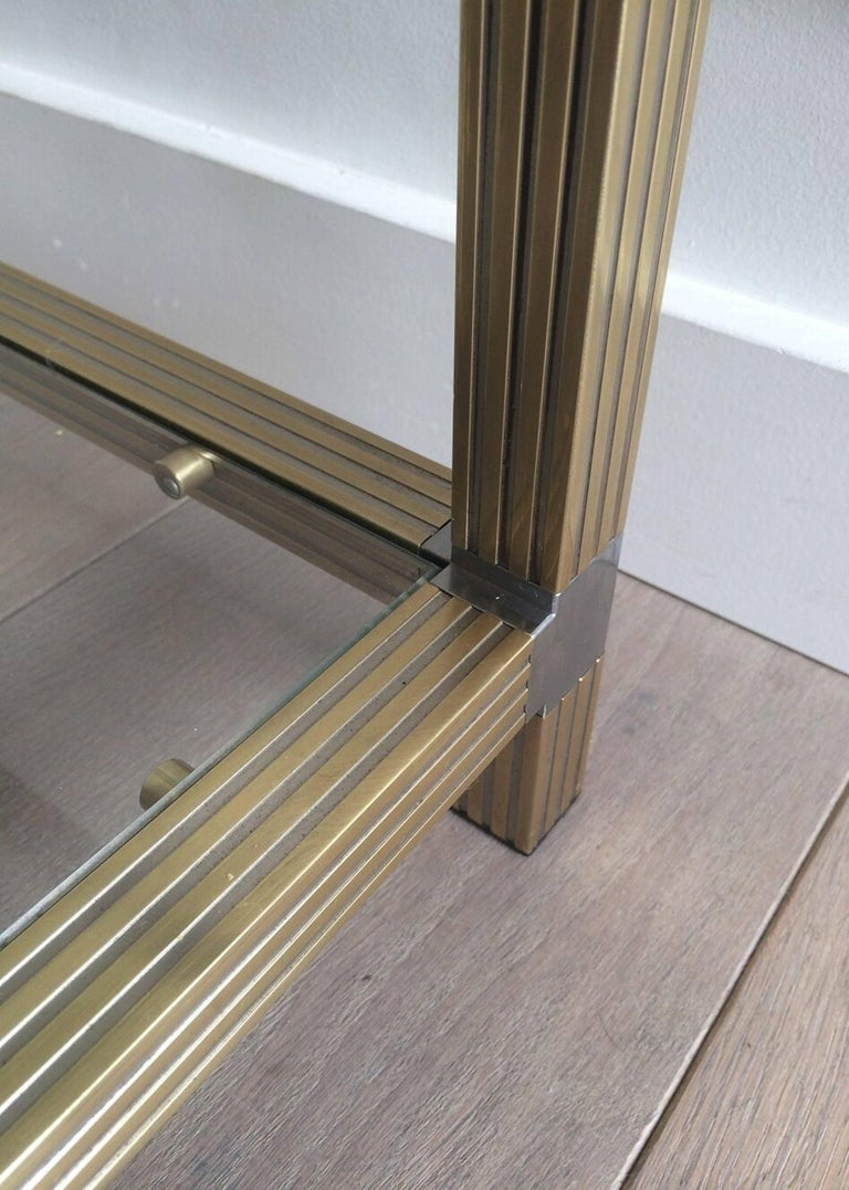 Pair of Brass Side Tables with Nickel Accents 8