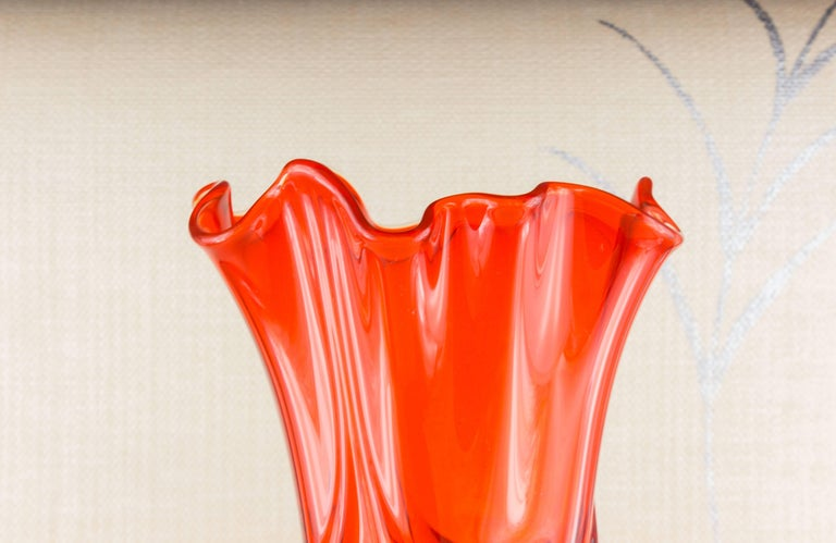 1960s Amberina Glass Vase By Viking For Sale At 1stdibs