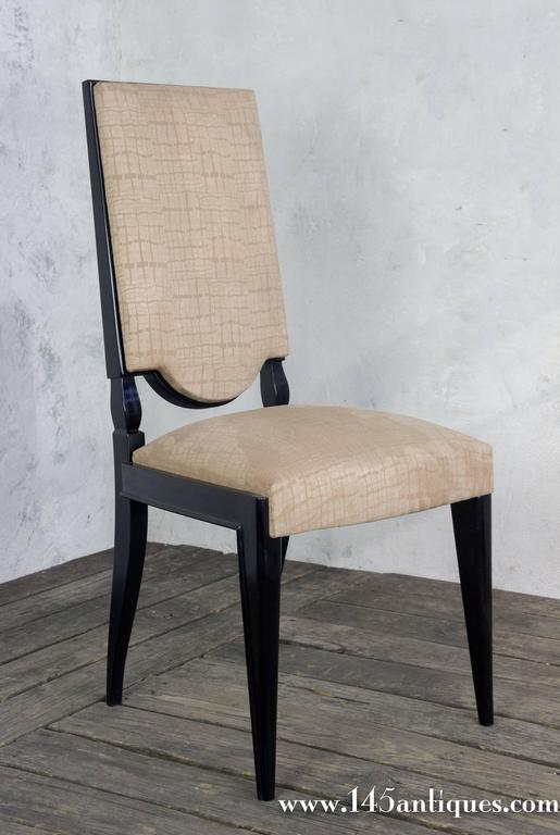Pair Of High Back Dining Chairs For Sale At 1stdibs