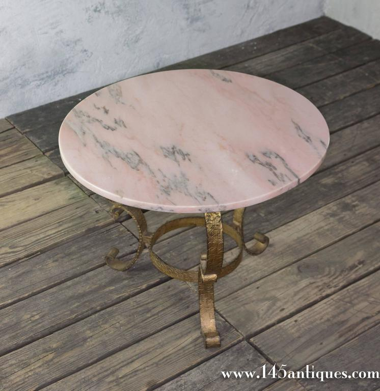 Round Coffee Tables With Marble Top: Small Round Coffee Table With Marble Top For Sale At 1stdibs
