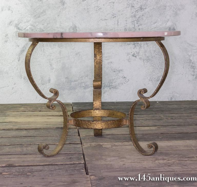 Round 3 Round Coffee Table Made Of Metal Cm ø80x23h: Small Round Coffee Table With Marble Top For Sale At 1stdibs