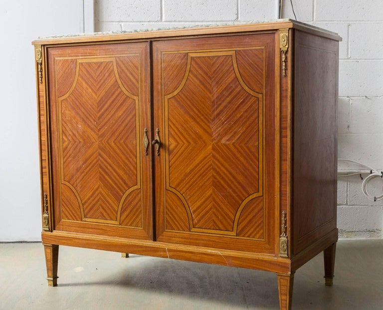 French Cabinet With Marble Top For Sale At 1stdibs