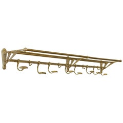 French 1920s Brass Hat and Coat Rack