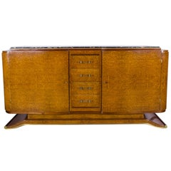 French Art Deco Style Elm Burl Sideboard
