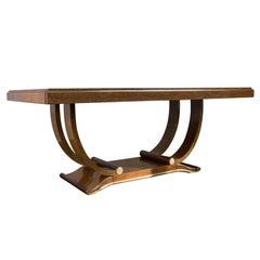 Art Deco Elm Burl Dining Table