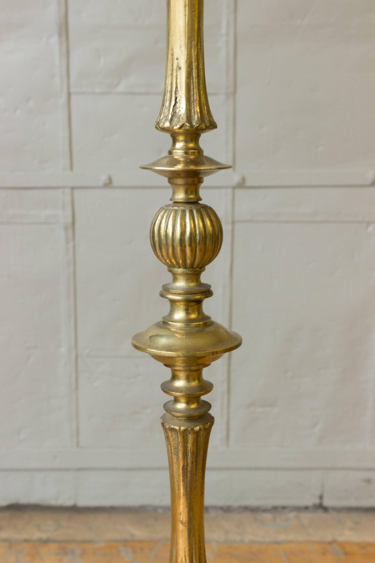 Cast Bronze Neoclassical Style Floor Lamp For Sale