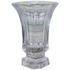 Midcentury French Crystal Glass Vase