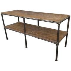 Unique French Industrial Console