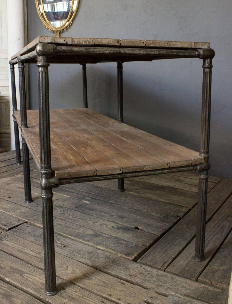Unique French Industrial Console In Good Condition For Sale In Long Island City, NY