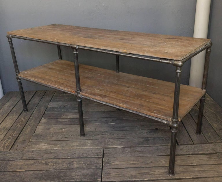 20th Century Unique French Industrial Console For Sale