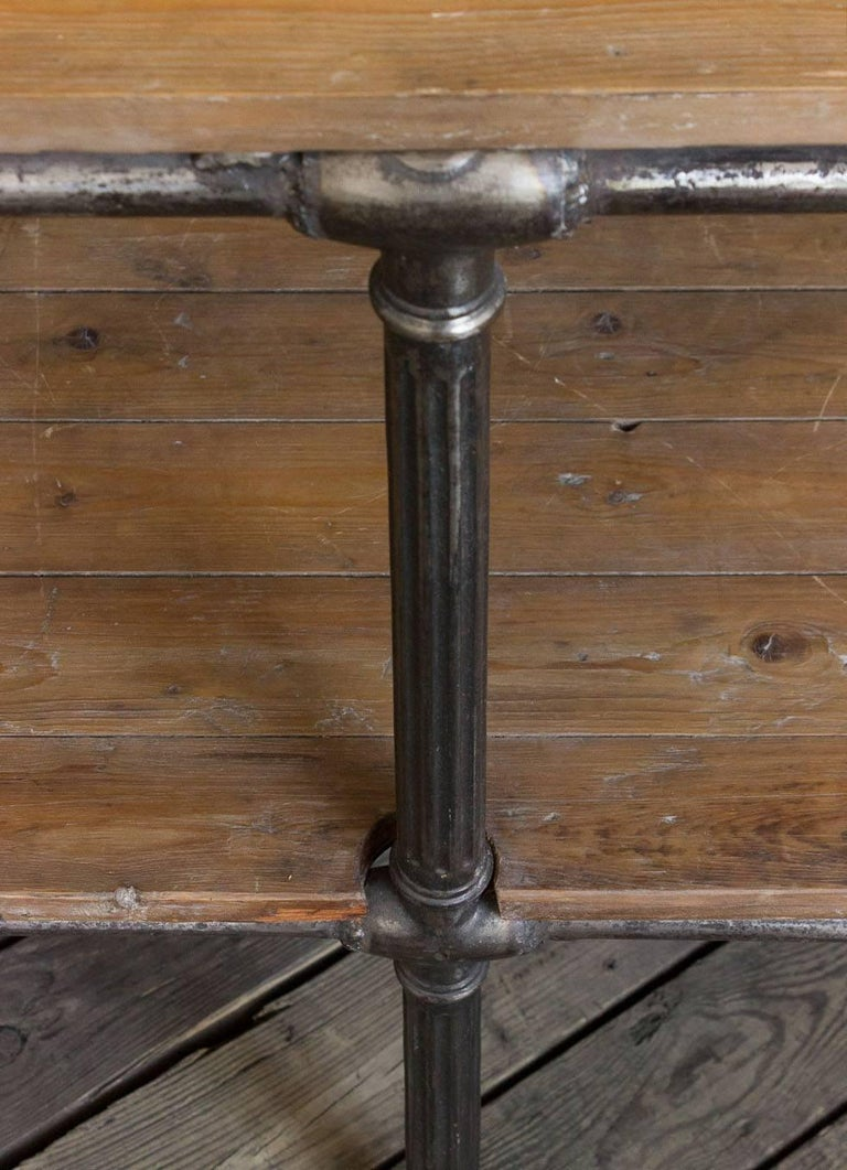 Iron Unique French Industrial Console For Sale