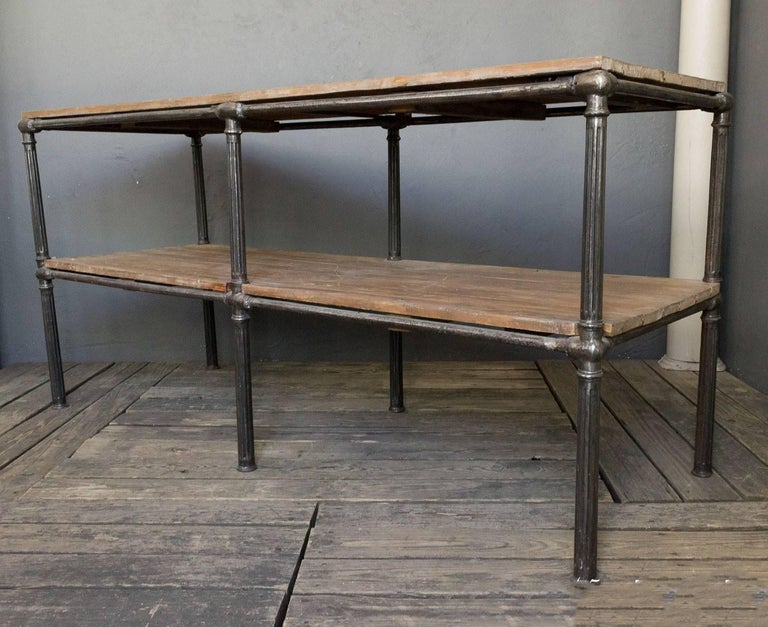 Unique French Industrial Console For Sale 2