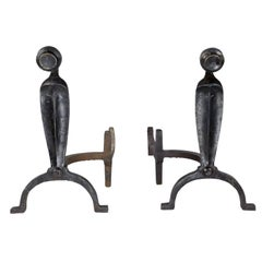 American Patinated Andirons, 1920s